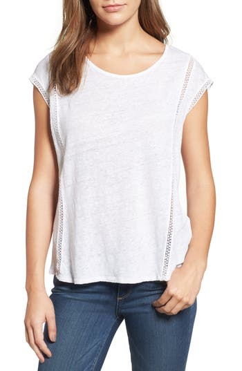 Two By Vince Camuto Linen Tee, White