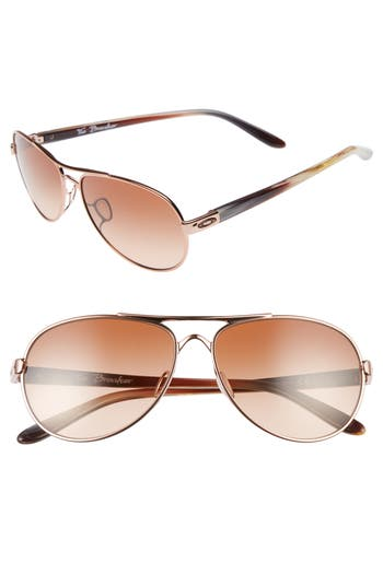 Oakley Tie Breaker 55Mm Sunglasses - Rose Gold/ Vr50 Brown