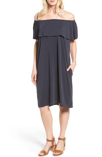 Nic+Zoe Boardwalk Convertible Jersey Dress, Blue
