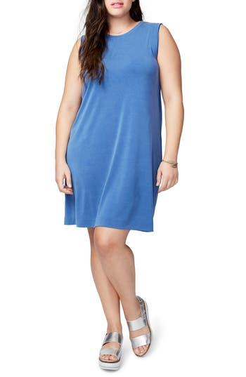 Plus Size Rachel Rachel Roy Draped Jersey Crossback Dress, Blue