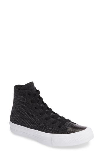 Converse Chuck Taylor All Star Fly Knit High Top Sneaker, Black