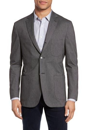 Michael Bastian Classic Fit Birdseye Wool Sport Coat, 0 L - Grey