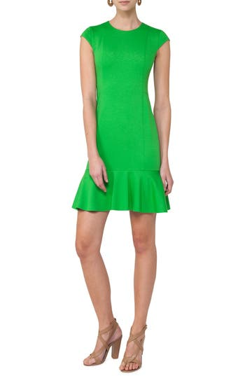 Akris Punto Flounce Hem Dress