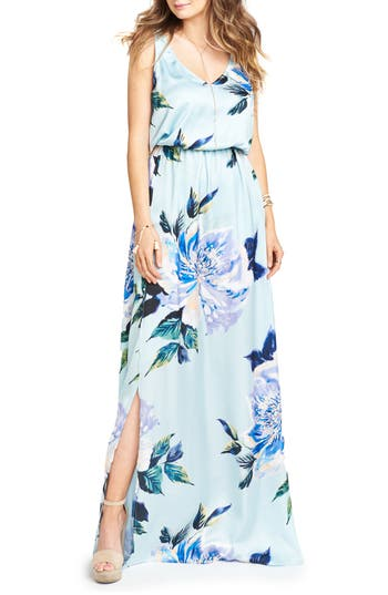 Show Me Your Mumu Kendall Soft V-Back A-Line Gown, Green
