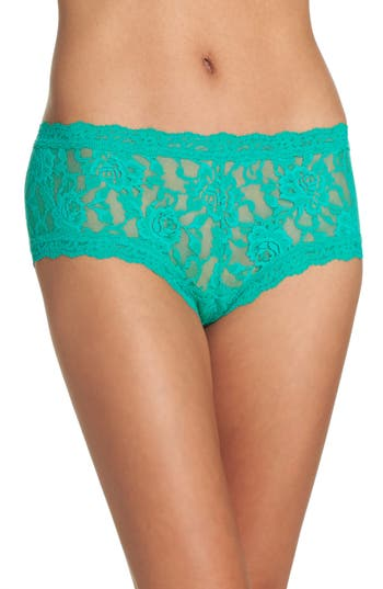 Women's Hanky Panky Signature Lace Boyshorts, Size X-Small - Green (Online Only)