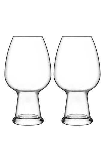 Luigi Bormioli Birrateque Set Of 2 Wheat Beer Glasses, Size One Size - White