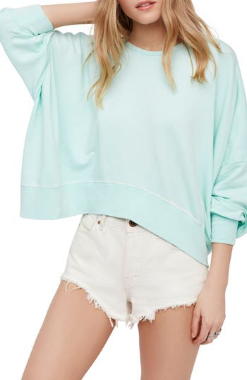 Free People Back It Up Pullover, Green