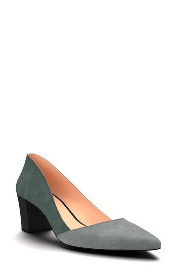 Shoes Of Prey Colorblock Pump, Green