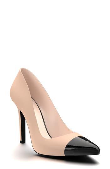 Shoes Of Prey Cap Toe Pump, Beige
