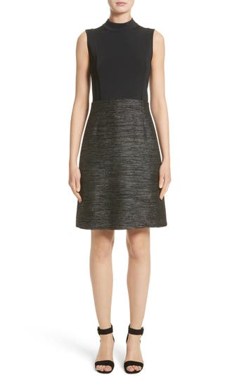 Lafayette 148 New York Indra Knit Combo Dress