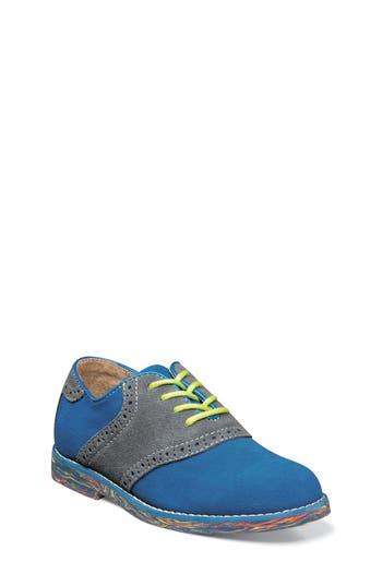 Boys Florsheim Kennett Jr. Ii Saddle Shoe Size 4 M  Blue