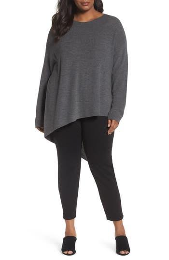 Plus Size Eileen Fisher Asymmetrical Merino Wool Pullover