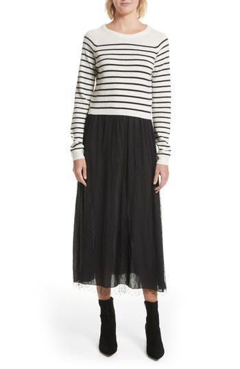 Red Valentino Stripe Knit & Point D
