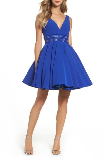 Ieena For MAC Duggal Embellished Fit & Flare Dress