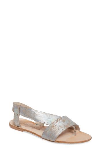 Women's Free People Under Wraps Sandal, Size 6-6.5US / 36EU - Metallic