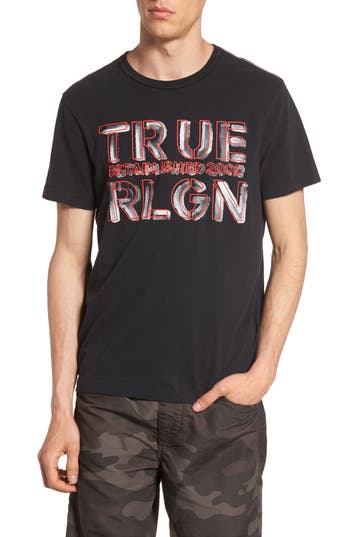 True Religion Brand Jeans Established Logo T-Shirt, Black