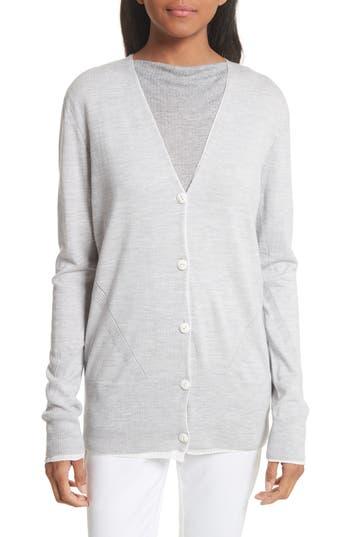 Rag & Bone Alyssa Merino Wool Cardigan, Grey