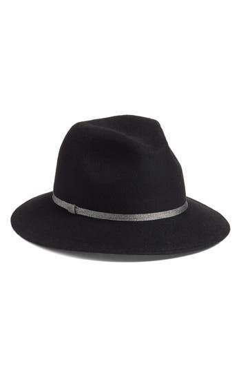 Treasure & Bond Metallic Band Wool Felt Panama Hat
