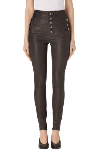 Women's J Brand Natasha High Waist Skinny Leather Pants