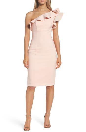 Women's Maria Bianca Nero Ruffle One-Shoulder Dress