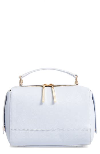 Milly Astor Leather Top Handle Satchel - Blue