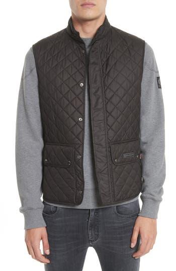 Belstaff Waistcoat Tech Quilted Vest, Black