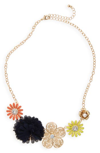Girl's Capelli Of New York Flower Necklace