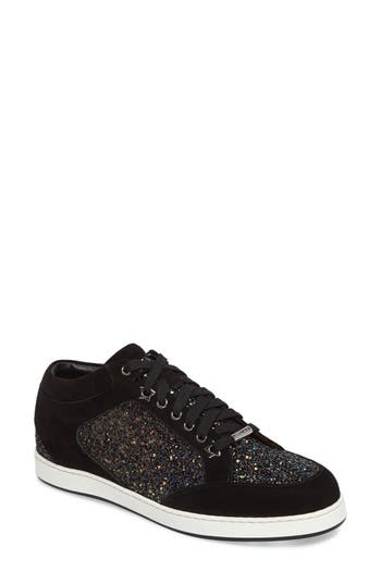 Jimmy Choo Miami Low Top Sneaker, Black