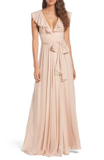 Women's Jill Jill Stuart Ruffle Chiffon Gown