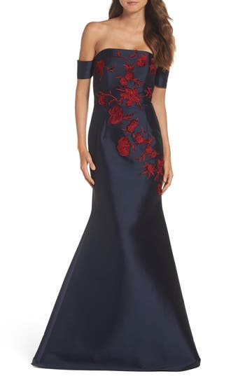 Sachin & Babi Noir Frances Mermaid Gown, Blue
