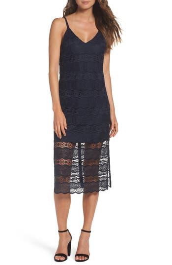 Betsey Johnson Lace Midi Dress, Blue