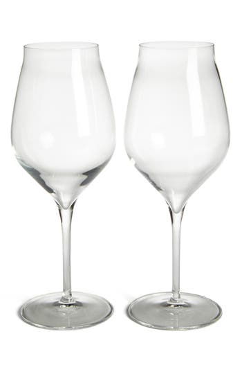Luigi Bormiolo Vinea Cannonau Set Of 2 Red Wine Glasses, Size One Size - White