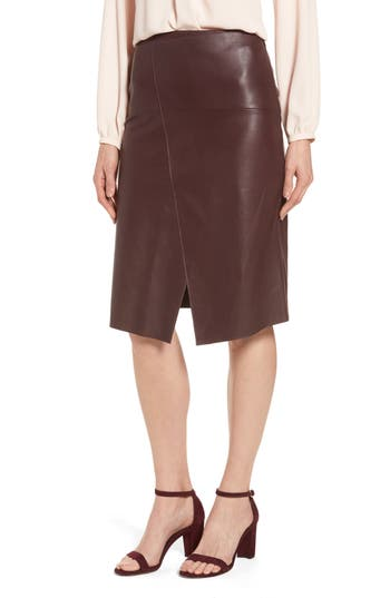Women's Emerson Rose Leather Skirt