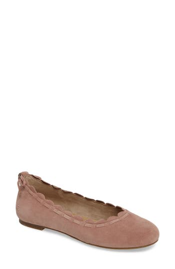 Jack Rogers Lucie Scalloped Flat, Metallic