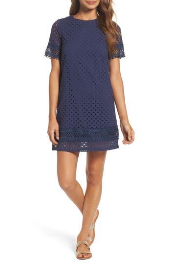 Nsr Lace Shift Dress, Blue