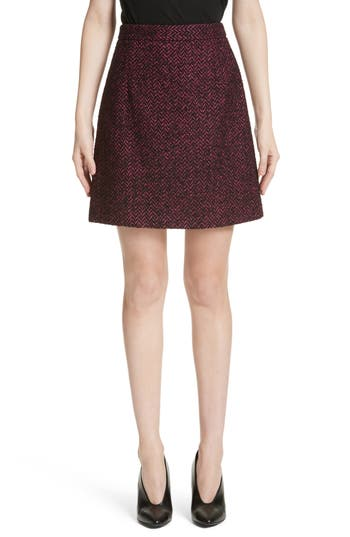 Women's Michael Kors Herringbone Wool Blend A-Line Skirt