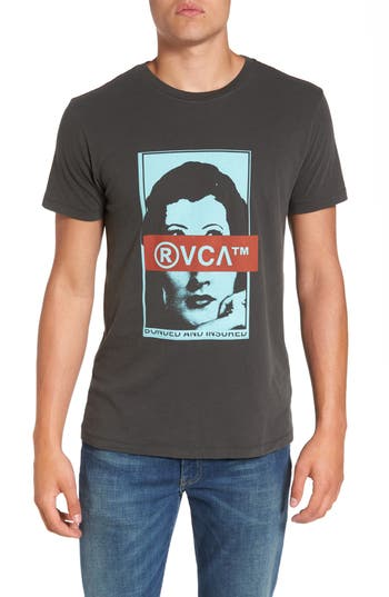 Rvca Split Frames Graphic T-Shirt, Black