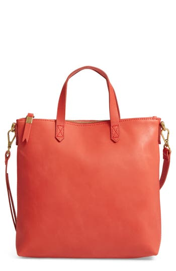 Madewell The Transport Leather Crossbody - Red