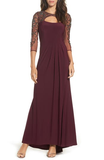 Xscape Embellished Gown, Red