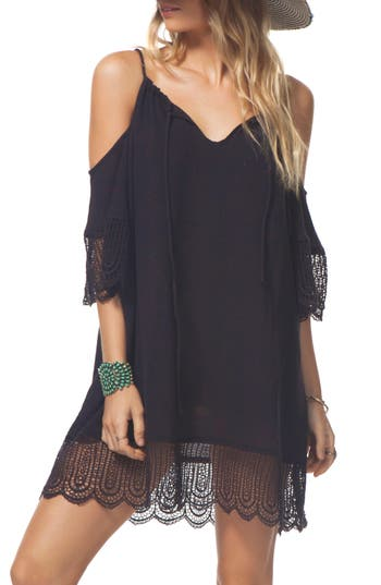 Rip Curl Badlands Cold Shoulder Dress, Black