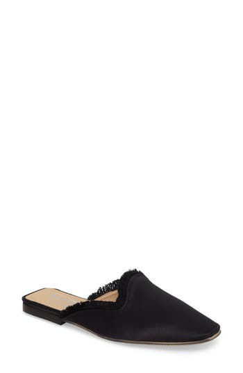 Shellys London Kat Fringed Loafer Mule Black