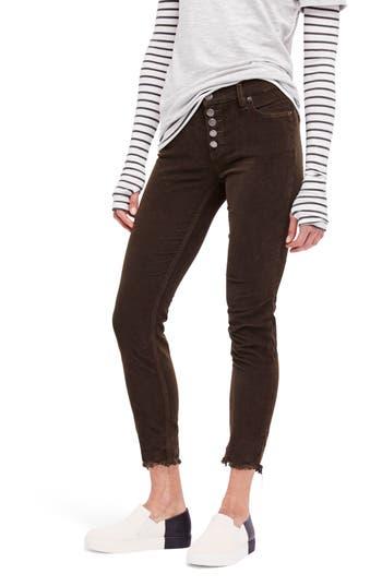 Free People Reagan Crop Skinny Jeans, Green