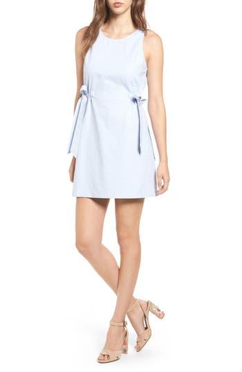 Lush Chambray Shift Dress, Blue