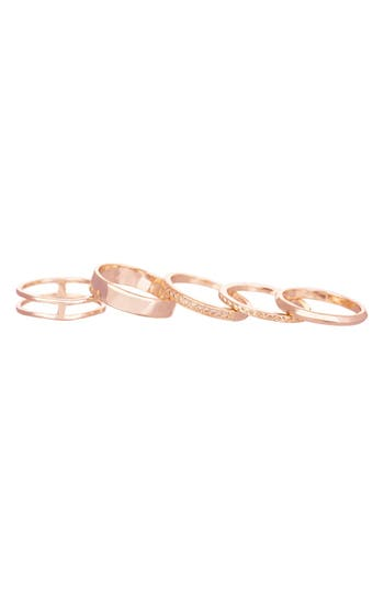 Women's Kendra Scott 'Kara' Stackable Midi Rings (Set Of 5)