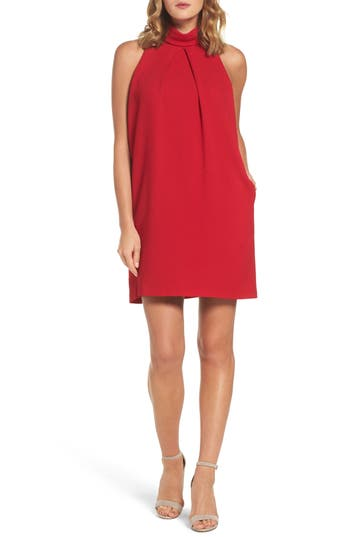 Maggy London Crepe Shift Dress, Red