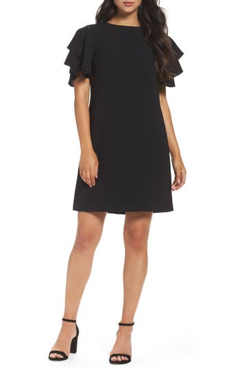 Chetta B Crepe Shift Dress, Black
