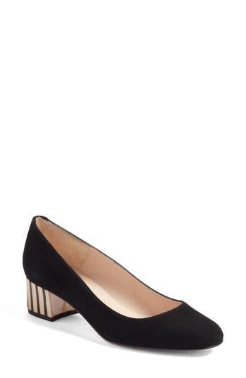 L.k. Bennett Maisy Embellished Heel Pump, Black