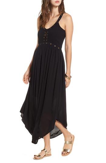 Sun & Shadow Grommet Detail Maxi Dress