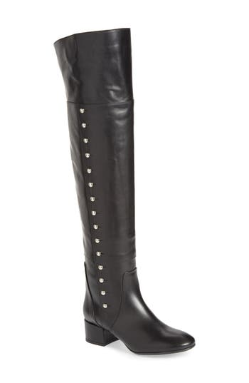 Charles David Military Over The Knee Boot Black