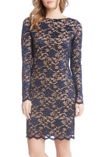 Karen Kane Lace Sheath Dress, Blue